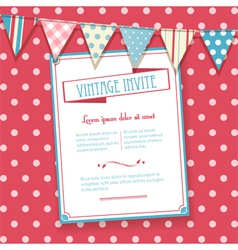 invite and bunting background vector image