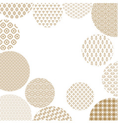 Japanese pattern circles on vector