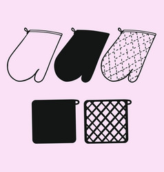 kitchen glove potholder vector image