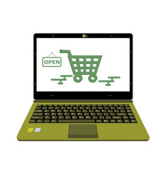 laptop for online shop payment vector image