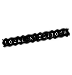 Local Elections rubber stamp vector image