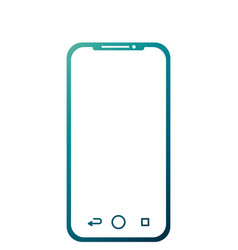 Mobile phone gadget technology touch screen vector