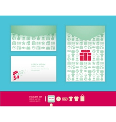 Modern soft color envelope design vector image