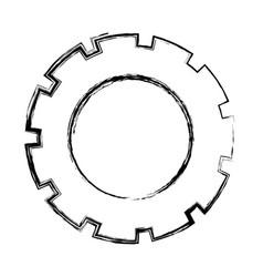 Monochrome blurred silhouette of pinion model vector