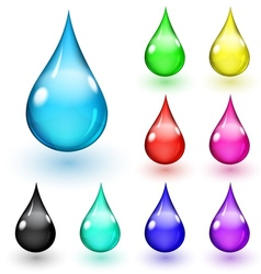 Multicolored drops vector