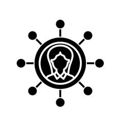 Multitasking position black icon concept vector