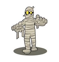mummy halloween cartoon character vector image