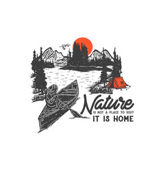 Nature is home vector