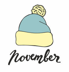 november with cap for design vector image