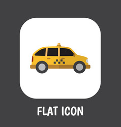 Of automobile symbol on taxi vector