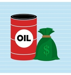 Oil and money isolated icon design vector image