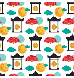 pattern dedicated to chinese folk festival vector image