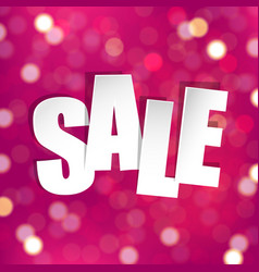 pink sale poster vector image