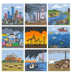 Pollution environment polluted air smog or vector