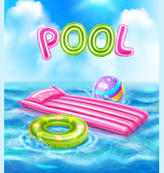 Pool realistic poster vector
