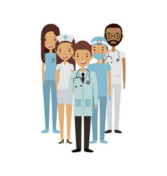 Professional medical people design vector