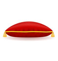 red velvet pillow vector image