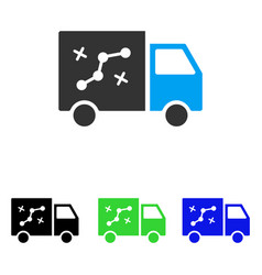 Route van flat icon vector