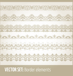 set of border elements and page vector image vector image