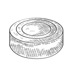 Sketch of a hockey puck vector