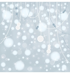 Snow Bokeh Background vector image