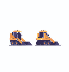 snow plow tractor icon professional cleaning vector image