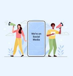 social influencer concept vector image