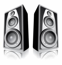 Speakers on white background vector