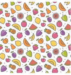 stylized background of fruit icons vector image