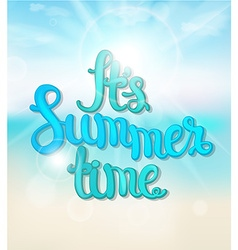 Summer blue background vector image