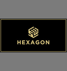 sw hexagon logo design inspiration vector image