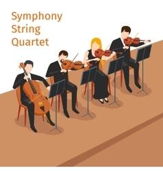 Symphonic orchestra string quartet vector