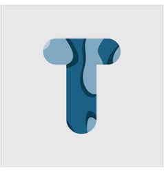 T water font template design vector