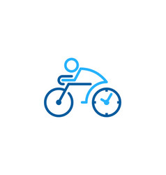 time bike logo icon design vector image
