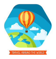 Travel traveling background with hot vector
