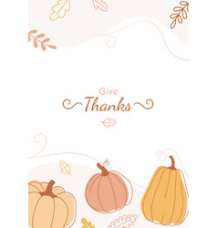 trendy minimal design with pumpkins for posters vector image
