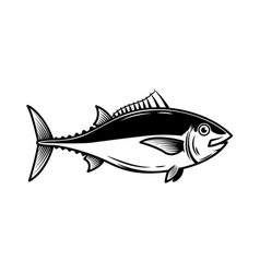 Tuna fish on white background design element vector