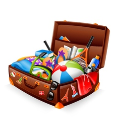 Vacation suitcase vector