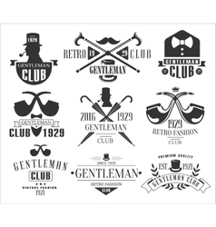 Vintage Gentlemen Club Logos Collection vector image