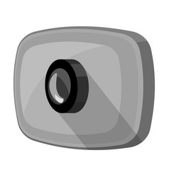 Webcam icon in monochrome style isolated on white vector