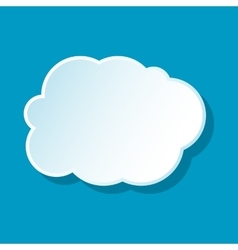 White cloud icon vector image
