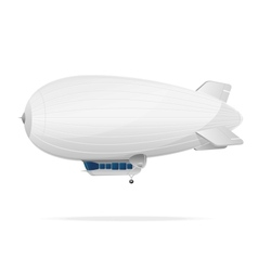 White dirigible balloon on a background vector