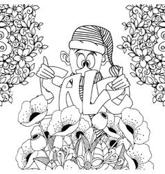 Zen Tangle gnome holding Sale vector