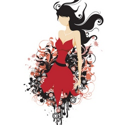 fashion floral grunge vector image vector image