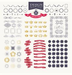 Premium design elements great for retro vintage vector