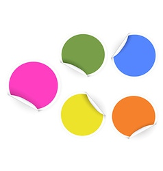 round color stickers vector image vector image