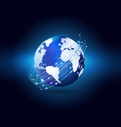 World with network communication and technology i vector image