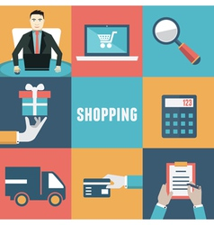 Concept of internet shopping vector