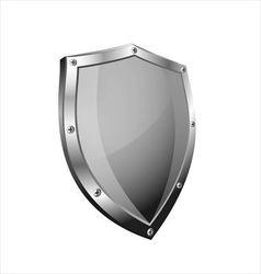 Empty metal shield vector
