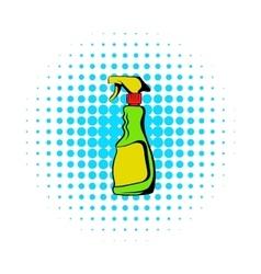 Plastic hand spray bottle icon comics style vector image vector image